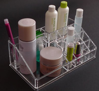 Wholesale Clear Acrylic Crystal Cases Cosmetic Organizer Makeup Case Holder Storage Case Jewelry Box Gift