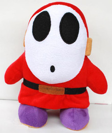 "Shy Guy 10"" SUPER MARIO BROS PLUSH TOY DOLL Game Character Super Mario Soft Plush Toy Stuffed Animal"
