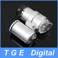 Wholesale Mini Sized LED White Light Illuminated Microscope Silver
