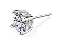 Wholesale 925 Sterling Silver Cut Swiss Diamond Vintage Style Silver Stud Earrings