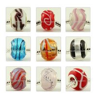 Round chamilia beads - assorted pc new fashion Large big hole troll beads fit for european chamilia biagi charm bracelets hand made ladies jewelry for