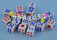 Wholesale Poker Chips dice mm Six Sided Spot Fun Board game Dice KTV bar game Games Party Dice Gambling Game Dices