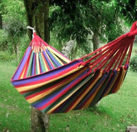 Wholesale New Shop For Discount Thick canvas hammocks camping hammocks KG