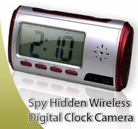 Wholesale 1pc Digital Spy Camera Alarm Clock with Remote Control and Motion Detection