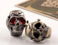 al por mayor reloj del anillo vendido-Mejor Tapa cráneo de la vendimia de Venta del dedo del reloj del anillo de la personalidad Anillos Relojes estiramiento de la correa 30pcs / lot