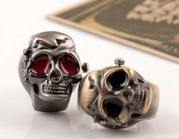 Best Selling Vintage Skull Cover Finger Ring Watch Personality Rings Watches Stretch Strap 30pcs lot