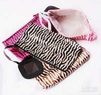 Wholesale Ms Bags Leopard Zebra Beast Striae Lined Small Mirror Cosmetic Bags Cases Size CM