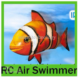Wholesale Air Swimmers Flying Clownfish Shark Nemo Flying Remote Control RC Fish HKpost for kids gift