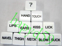 Wholesale free ship pair sexy erotic lovers dice sex couple dice toys adult game dice sex toys bar game fun dice