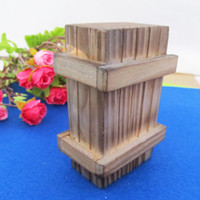 Wholesale Magic Intelligence Wooden Gift Box Case IQ Tester Brain Training unny Tricks Gag Hard to open