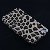 No Leather For Apple iPhone 500pcs Good Quality leopard printed pu leather skin hard cover skin back case for iphone 4 4S