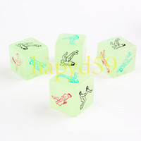 Wholesale hot luminous dice KTV bar game fun dice sex couple dice toys adult game dice sex erotic lovers dice gift party dice