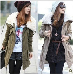 Wholesale Ladies Warm Parka Long Sleeve Zip Up Womens Fleece Winter Coat Jacket colors size S XXL