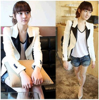 Wholesale White Women Ladies Lapel Casual Suits Blazer Jacket Outerwear Coat