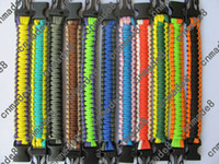 Wholesale New arrival survival bracelets many colors custom Bracelet paracord with whistle