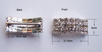 Wholesale M0415 mm inner bar rhinestone buckle for wedding invitation