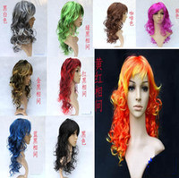 Wholesale Party dress Performing wig window mannequins wigs wig washing waves colors optional hair toy