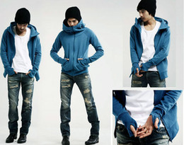 Wholesale 2012 men s casual jacket hedging Slim Hooded sweater men s hoodies mens sweatshirt