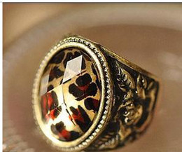 Fashion Jewelry Women's Rings Girl Rings Leopard Grain Cut A Gem Ring Ring