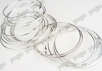 Wholesale 100PC INCH Silver Basketball Wives Inspired Earrings Hoop Accessories mm EH01S