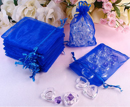 200 Pcs Royal Blue Organza Gift Bag Wedding Favor 7X9 cm ( 2.7 x 3.5 inch )