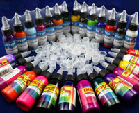 Wholesale Wonderful Bottles Tattoo Ink OZ Sets Of Colors INK Kits amp Ink Cups Freely