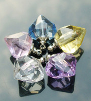 vials - Crystal Plain Perfume Vials Diamond Heart Aroma necklaces Aroma Jewelry Aroma pendants