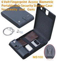 Wholesale Portable Fingerprint handhold Access Biometric Mini Car Gun Safe Security Storage Box for Jewelry