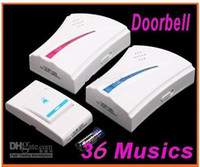 Wholesale Digital Tones Chime Flash Light Ring Melody Wireless Remote Control Doorbell Music Door Bell