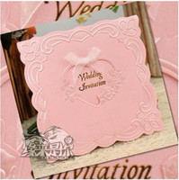 Wholesale Wedding invitations thank you card Western style wedding cards personalized invitations cm