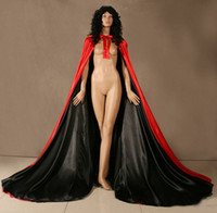 Wholesale Spell color Satin Cape Cloak Medieval Renaissance Wedding Costume Custom Any colour
