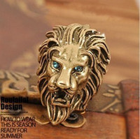 Wholesale Fashion Bronze Intrepid Lion Retro Style Ancient Ring