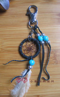 Wholesale shipping free native american one inch dream catcher keychain