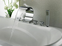 LED Chrome Stainless Steel chrome plated Faucet tap faucet bathroom mixer waterfall basin