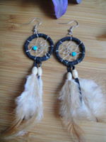 Wholesale native american style dream catcher earring