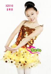 Wholesale 2012 FashionGold Sequin Skirts Sequin TUTU dancewear danceskirt bellat tutu girl s skirt Sequin Tutu