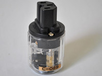 Pure Brass iec connector - New C Brass IEC Connector Transparent