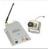 wireless security - CCTV security surveillance A V audio IR LED RC Camera Receiver Wireless Mini pinhole kit S368