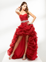 Free shipping Sexy Party Dresses Ball Gown Hi- Lo Organza Bea...
