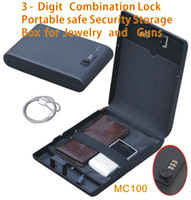 Wholesale Portable Digit Combination Lock Mini Car Gun Safe Security Storage Box Vault