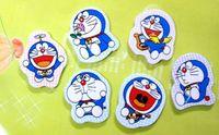 Wholesale Free Ship Pieces Mixed Dora Doraemon Cartoon Eraser pencil eraser office supply In Nice Gift Box