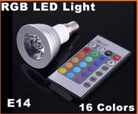 Wholesale W Energy saving Remote Control RGB E14 LED Light Bulb e27