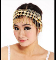 Cheap BELLY DANCE BOLLYWOOD COSTUME TRIBAL JEWELRY GOLD SILVER HEADBAND HEADPIECE PROP