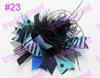 Hair Clips baby boutique yellow - mix color fashion boutique girl hair bows feather bows popular baby hair clips