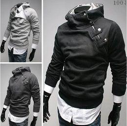 HOT monde Korea Men's Hoodie Sweatshirts Rabbit Hair Collar plus size Men's Jacket men's Coats men's outwear 5 colours gray 1171