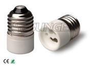 Wholesale Ceramic materials E27 to GU10 Adapter Converter Led Halogen CFL light GU10 E27 converter New