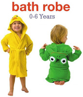 baby duck robe - Funny Frog Duck Kids Bath Robes Baby bathrobe bathing boys girls robe bath robe Beach towel blanktet