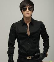 Women Cotton Polo Wholesale wild Fashion New Style silk collar shirt Slim casual satin shirt men's long sleeve T-shirt