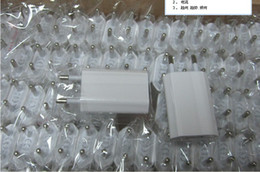 Wholesale *500pcs lot* flat EU AC home wall USB-based charger adapterfor iphone for ipod phone