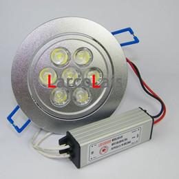 White Super Bright 7 * 1W 110V 220V 85~265V LED Ceiling Light Downlight with 7W Lights Lamp Bulb